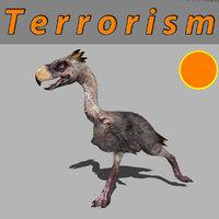 terror bird phorusrhacos 3D model