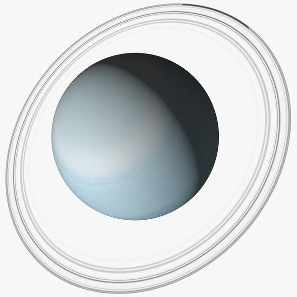 uranus planet rings 3D