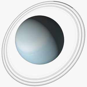 uranus planet rings 3D
