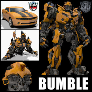 3D model bumblebee animation