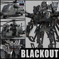 3D blackout animation