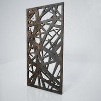 Low-poly CNC panel Lines sharp lattice