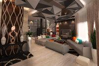 modern living room autocad drawings 3D model