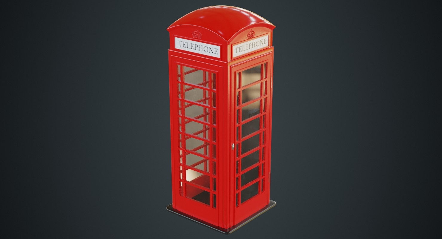 3D model phone booth 1a