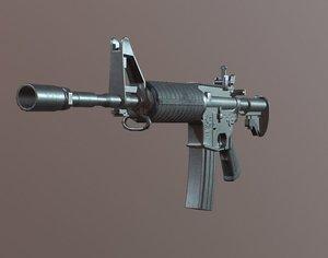 3D ready m4a1 model