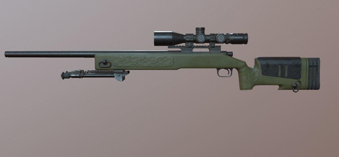 3D ready sniper rifle - model
