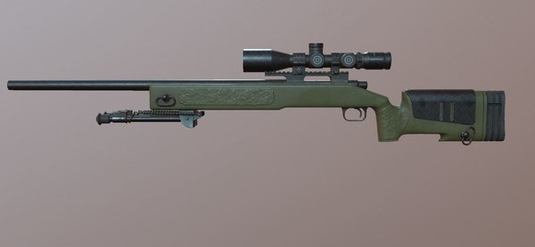 3D ready sniper rifle - model