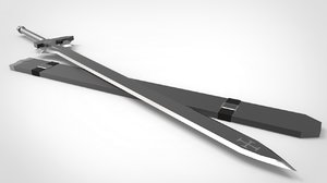 sword elucidator 3D model