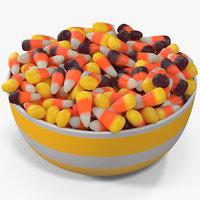 candy corn 7 3D