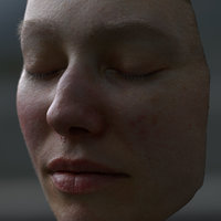 female face shaders 3D model