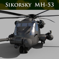 Sikorsky MH-53 Pave Low helicopter 3d model