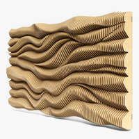 3D parametric wall 06 model