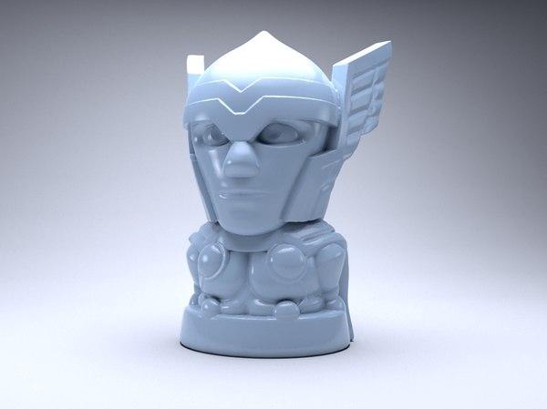 tor figure chip 3D model