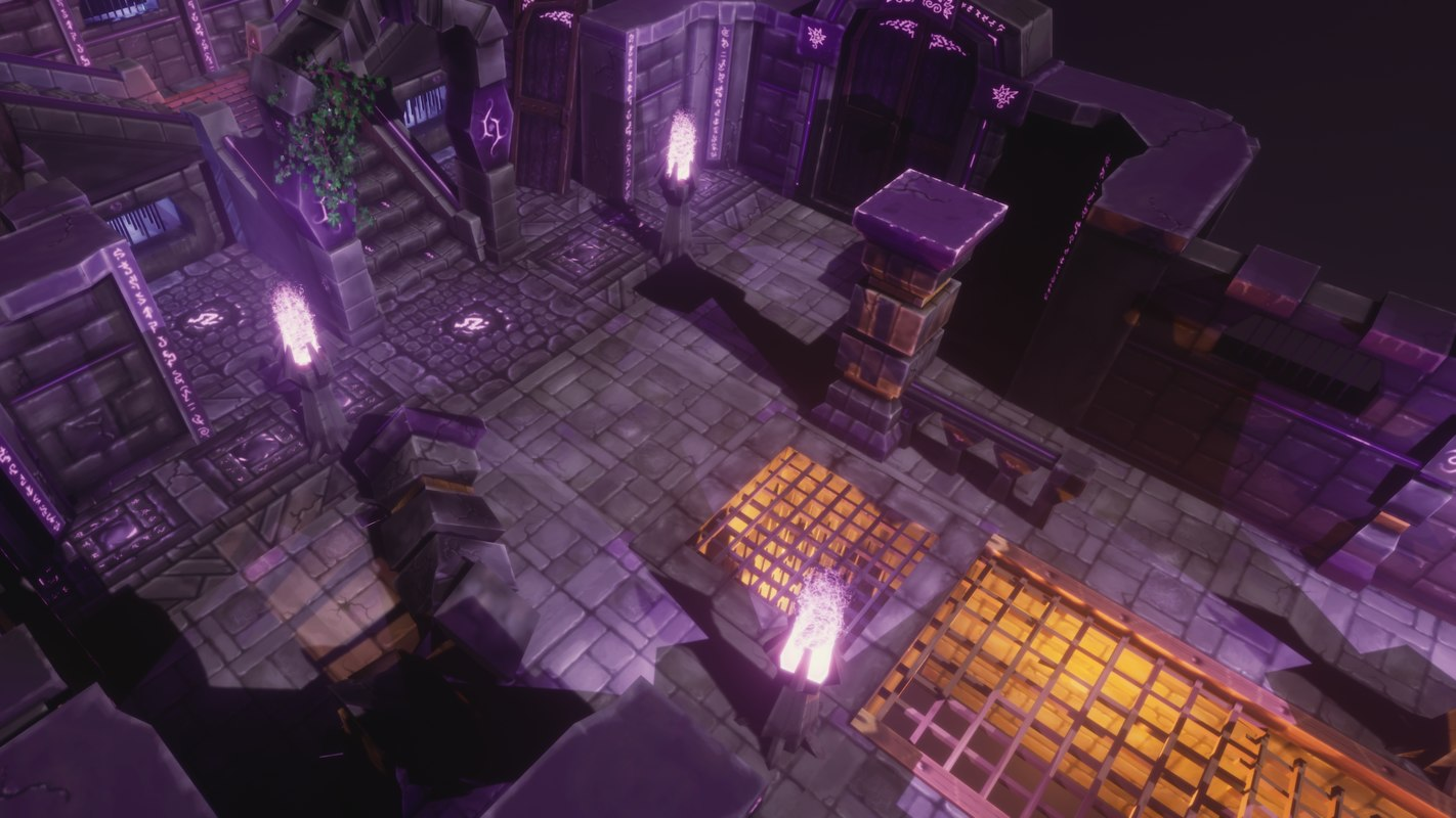 3D modularized dungeon model