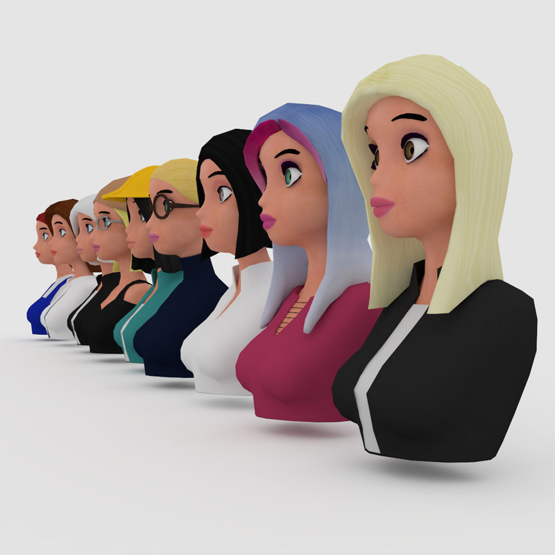 vr female character avatars model