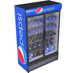 fridge beverage pepsi 3D model