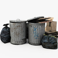 3D garbage bins