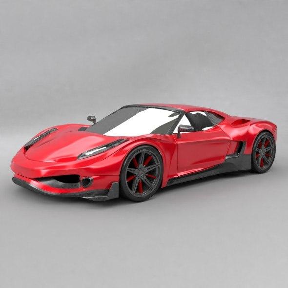3D generic supercar model