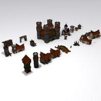 3D fantasy medieval