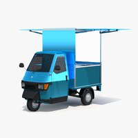 Piaggio Ape 50 Food Cart