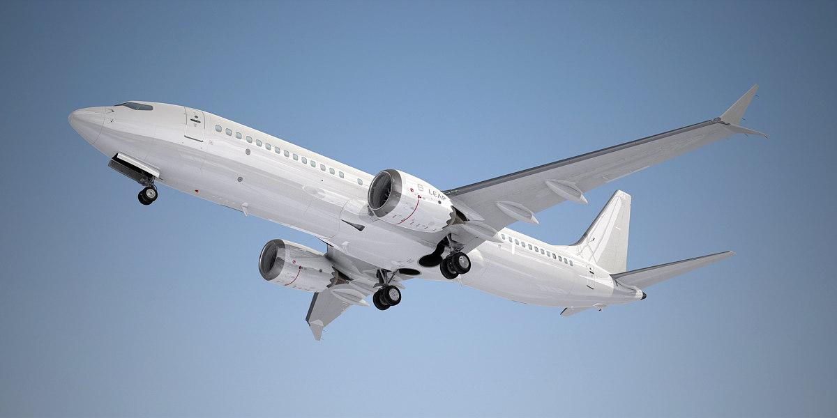 boeing plane crash 737 max 8 3d model turbosquid