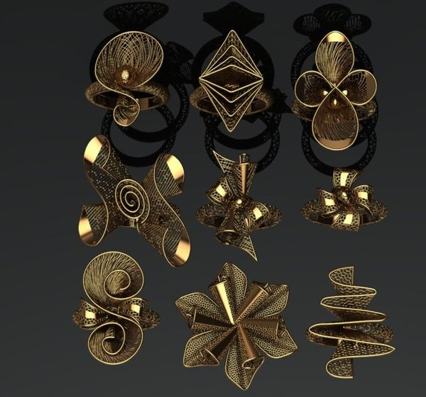 fusion rings 3D model