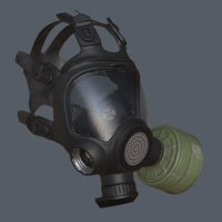 Gas mask Low-poly