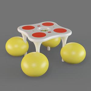 lego table 3D