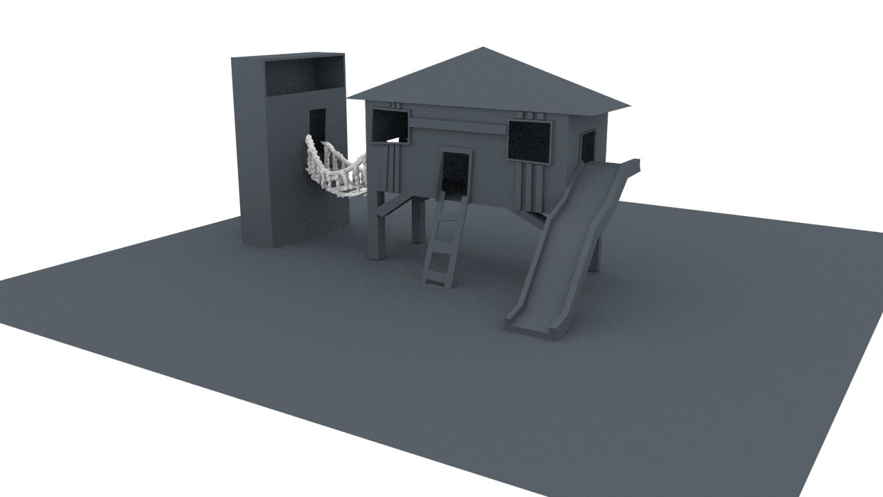kids playhouse 3D model