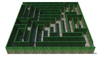 Maze - wall with creeper