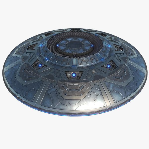 3D sci-fi ufo
