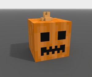3D model voxel pumpkin