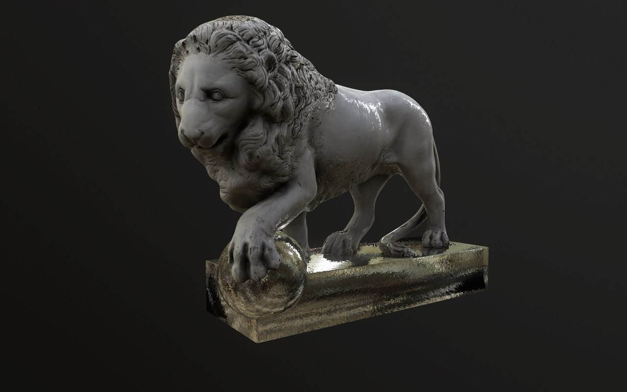 lion exterior interior 3D model