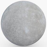 3D model mercury planet