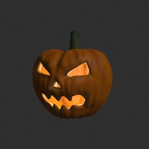 3D model pumpkin modelled