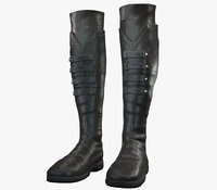 Black Leather Boots3 PBR