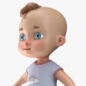 3D cartoon baby boy model