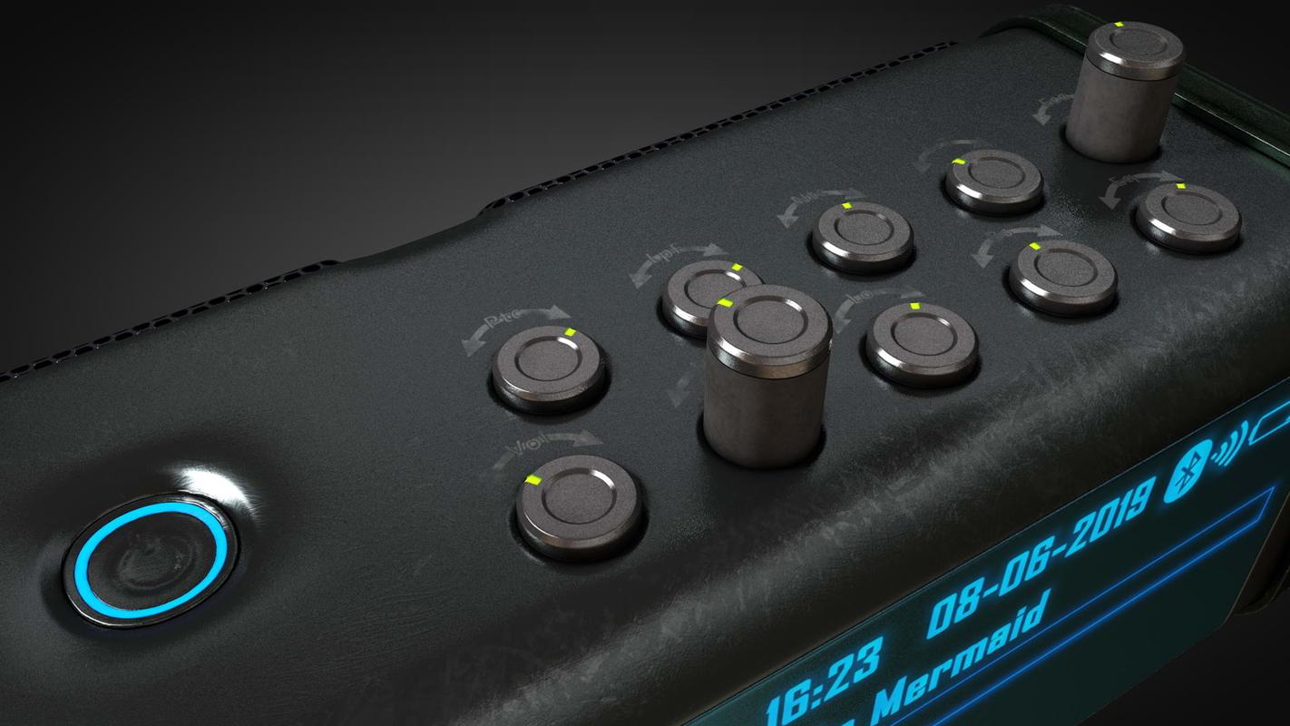 3D model music player speaker