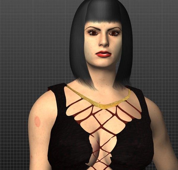 tattooed 3D model