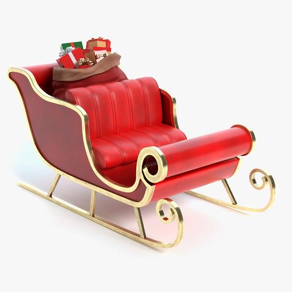 santa s sleigh 3D model