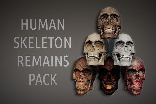 human remains skeleton body model