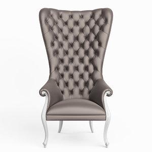 3D high-back chair christopher model