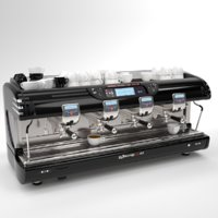 La spaziale Coffee Machine Black 4 group