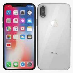 silver iphone x model