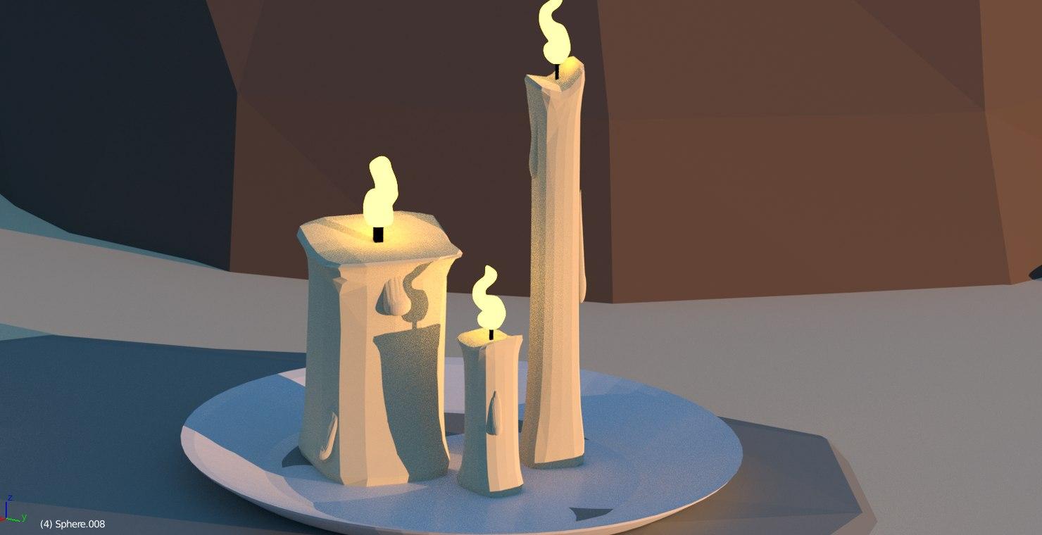 candles blender 3D model