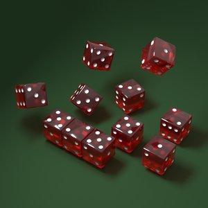 dice red 3D