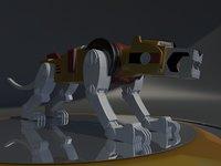 lion voltron robot 3D