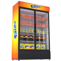 3D fridge fanta beverage model