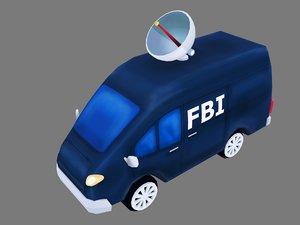 3D model fbi truck