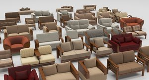 living furniture architectural content 3D